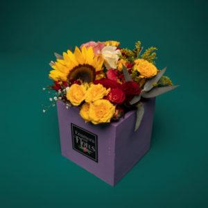 Mini Caja Girasol & Rosas
