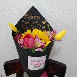 Ramo de Girasol & Tulipanes