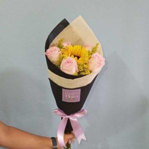 Ramo de Girasol y Rosas Amanecer