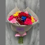 Ramo de Rosas Doble Arcoíris